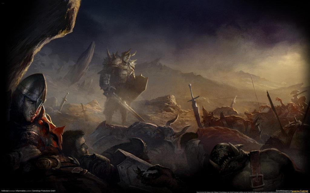 Гора убитых воинов на телефон